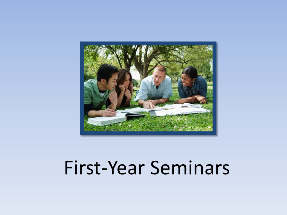 First Year Seminars  (image of students studying)