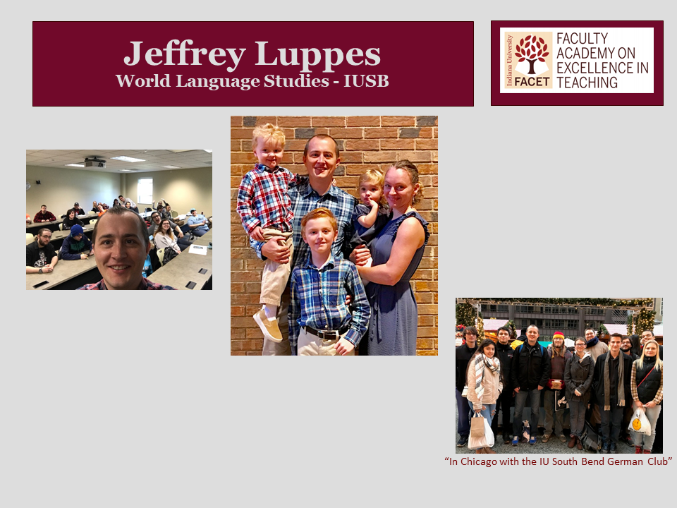 Jeffrey Luppes, World Language Studies, IUSB
