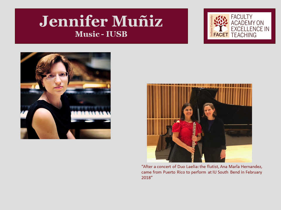 Jennifer Muniz, Music, IUSB