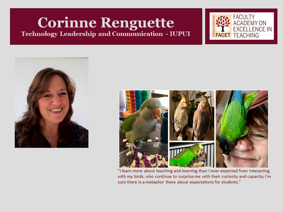 Corrinne Renguette, Technology Leadership and Communication, IUPUI