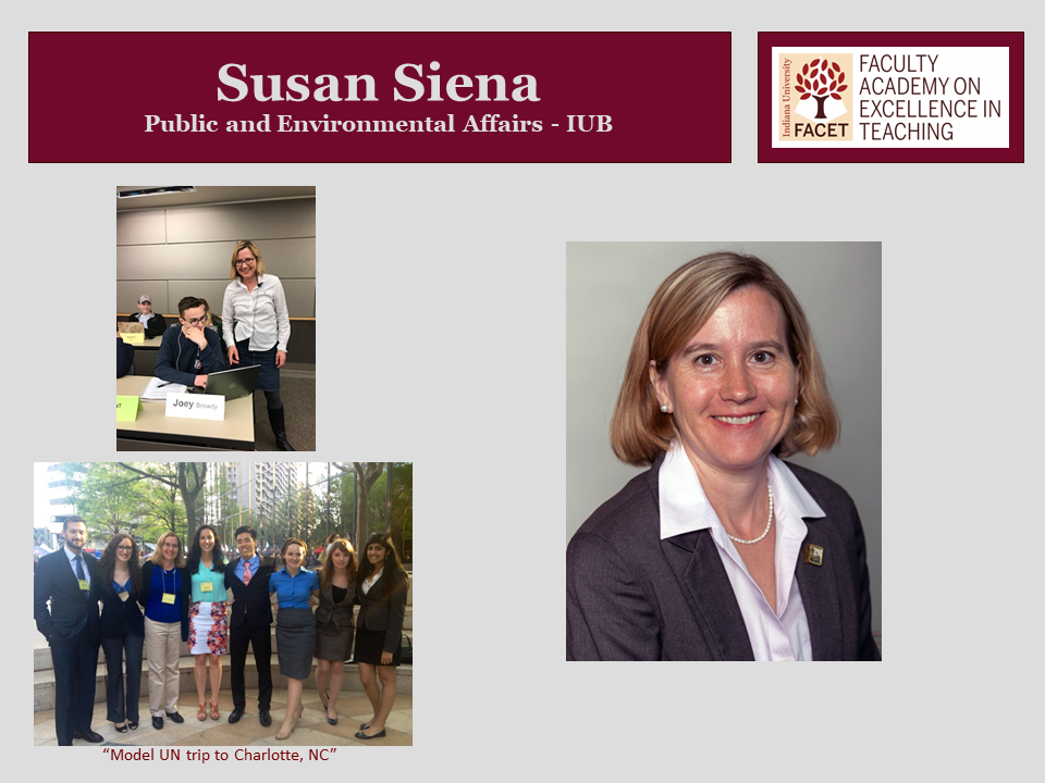 Susan Siena, Public and Environmental Affairs, IUB