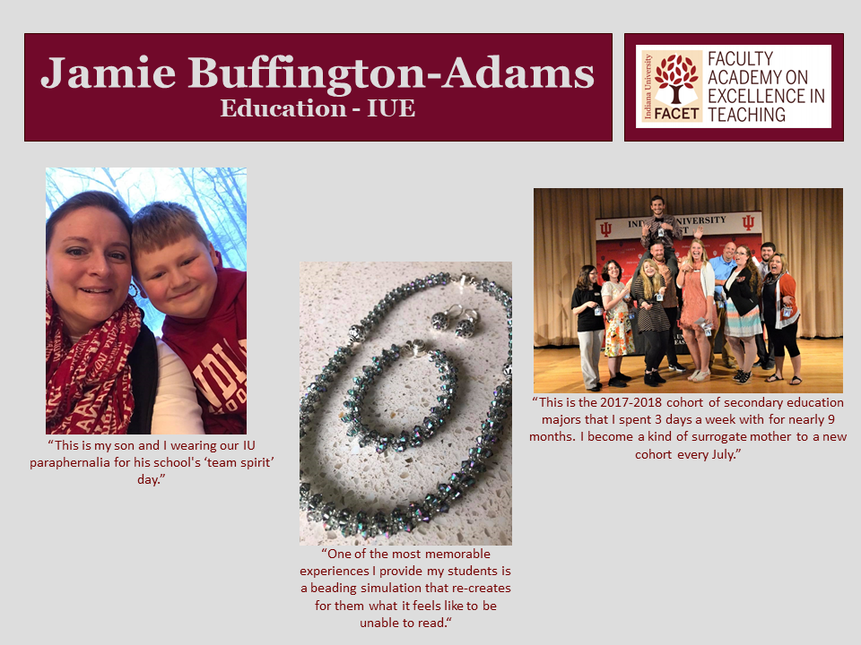 This is the page for Jamie Buffington-Adams