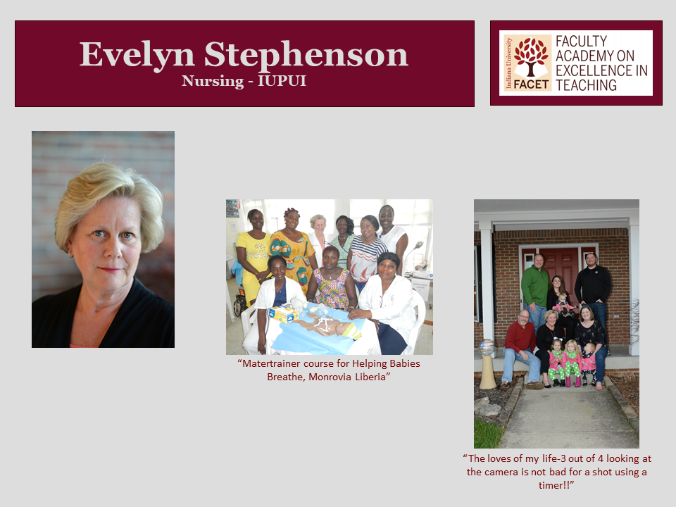 Evelyn Stephenson, Nursing, IUPUI