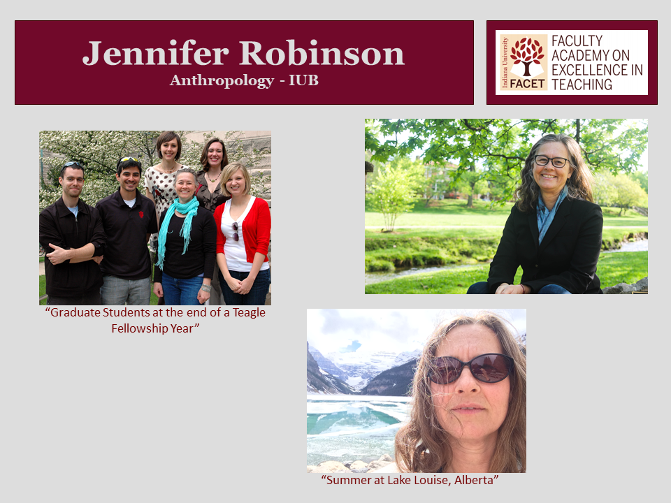 Jennifer Robinson, Anthropology, IUB