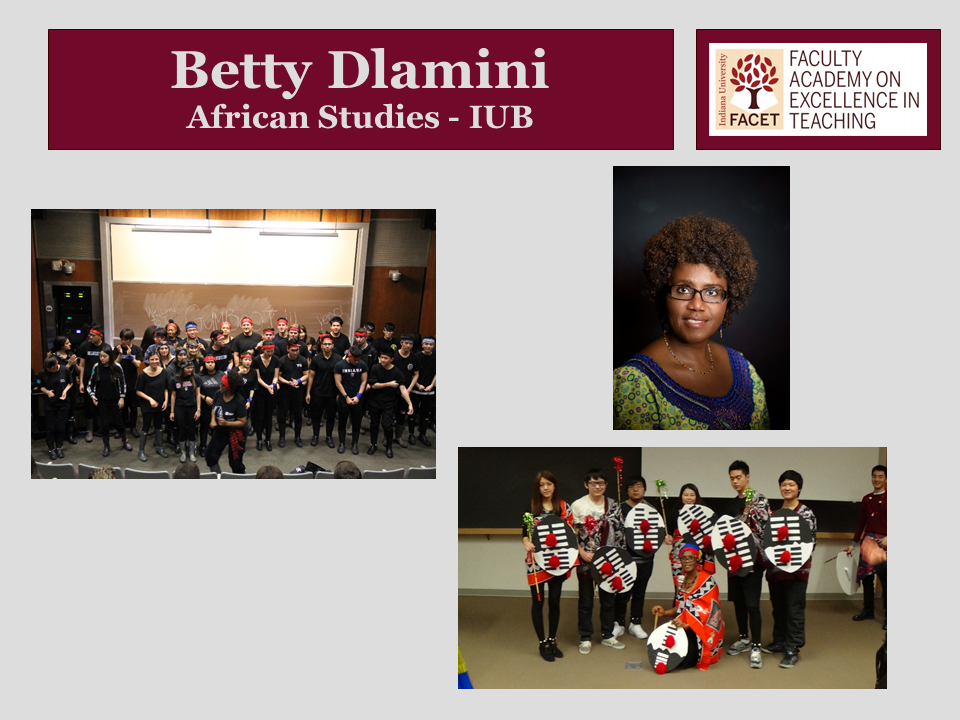 Betty Dlamini, African Studies, IUB