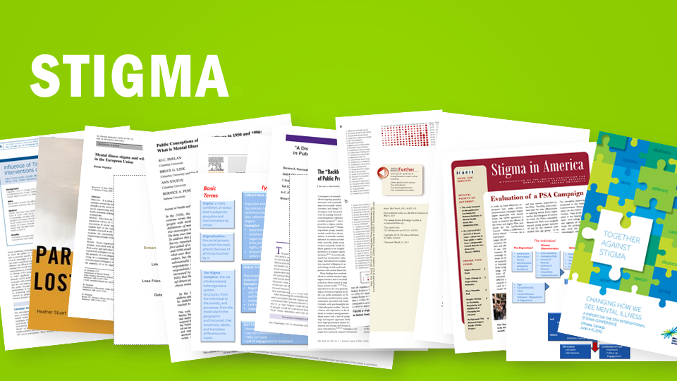 Stigma  This is a photo of many pages of articles relating to stigmas
